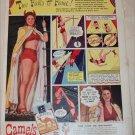 1943 Camel Cigarette ad featuring Aerialist Ernestine Clarke