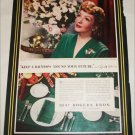 1942 1847 Rogers Brothers Silverware ad featuring Claudette Colbert
