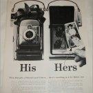 1957 Polaroid Land Camera His & Hers ad