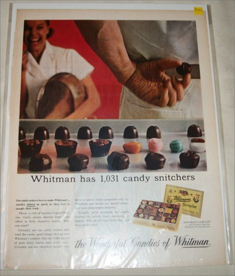 Whitman's Candies Snitchers ad
