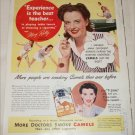 1947 Camel Cigarette ad featuring Mary Reilly