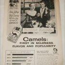 1953 Camel Cigarette ad featuring Anne Jeffreys & Bob Sterling