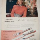 1945 1847 Rogers Brothers Silverware ad featuring Dinah Shore