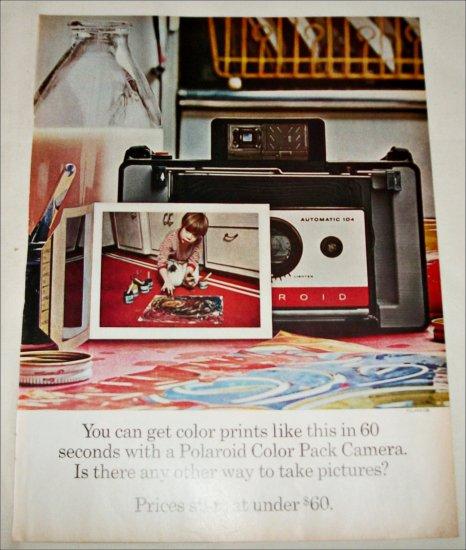 1965 Polaroid Land Automatic 104 Camera Fingerpainting Boy ad