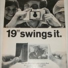 1965 Polaroid Land Swinger Model 30 Camera ad