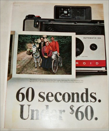 1965 Polaroid Land Automatic 104 Camera Traveler ad