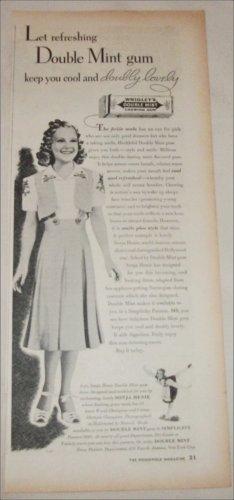 Wrigley's Double Mint Gum ad featuring Sonja Henie