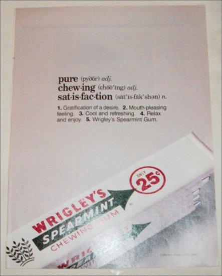 1989 Wrigley's Spearmint Gum ad