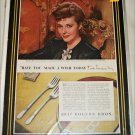 1847 Rogers Brothers Silverware ad featuring Laraine  Day