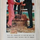 1959 Blue Bell Wranglers ad featuring Jim Shoulders
