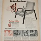 1950 Natural Rubber Bureau Better Cushioning ad
