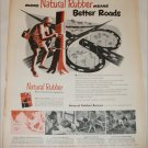1950 Natural Rubber Bureau Better Roads ad