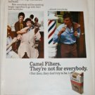 1971 Camel Filters Cigarette Barber ad