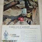 General Telephone & Electronics Spadework ad