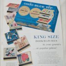 1956 Ohio Blue Tip Matches ad
