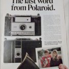 1969 Polaroid Countdown 350 Camera Football ad