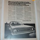 1971 American Motors Hornet 2 dr sedan car ad