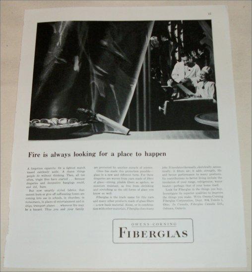 Owens-Corning Fiberglas ad