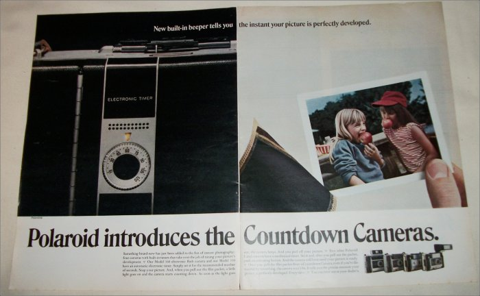 1969 Polaroid Countdown Cameras Girls ad