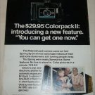 1970 Polaroid Colorpack II Camera Grandparents ad