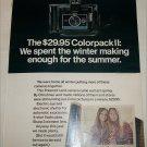 1970 Polaroid Colorpack II Camera Girls ad
