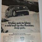 1971 American Motors Jeepster Commando Rockies ad
