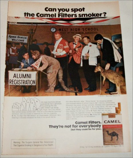 1973 Camel Filters Cigarette Spot the Camel Smoker ad #2