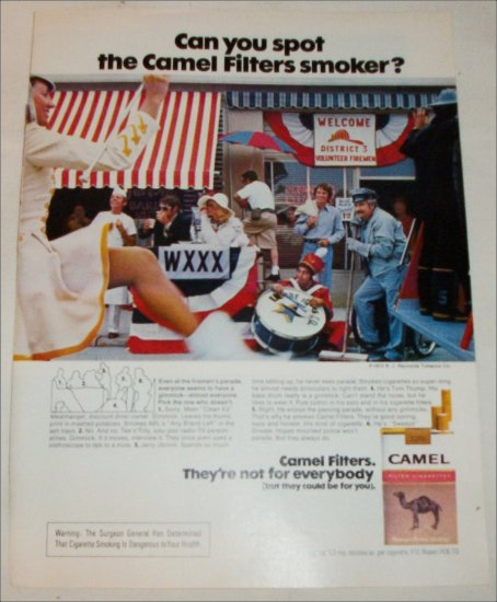 1973 Camel Filters Cigarette Spot the Camel Smoker ad #3