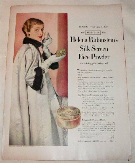 Helena Rubinstein's Silk Screen Face Powder ad