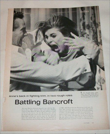 Anne Bancroft article