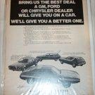 1971 American Motors Lineup car ad #1