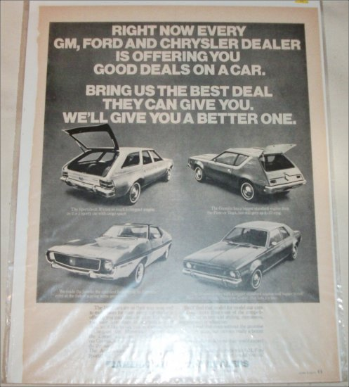 1971 American Motors Lineup car ad #2