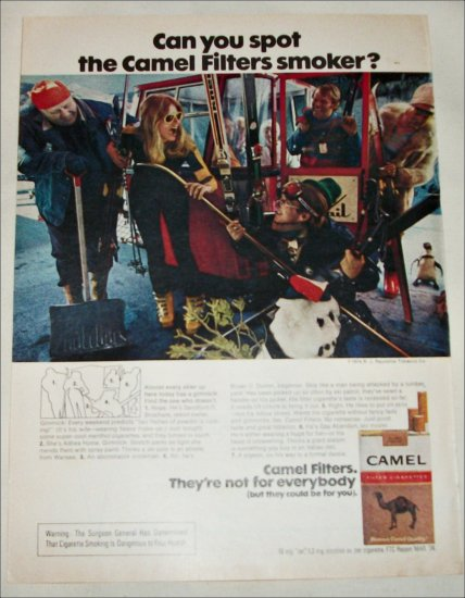 1974 Camel Filters Cigarette Spot the Camel Smoker ad #4