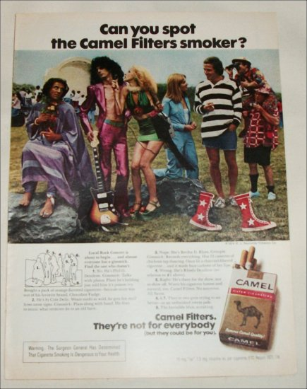1974 Camel Filters Cigarette Spot the Camel Smoker ad #6