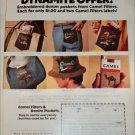 1974 Camel Filters Cigarette Denim Patch ad