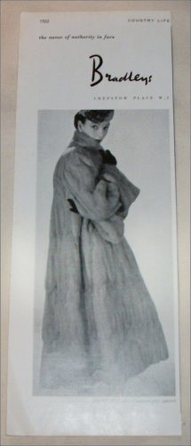 1952 Bradley's Natural Squirrel Coat ad from the UK