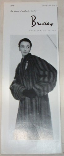 1952 Bradley's Natural Musquash Coat ad from the UK