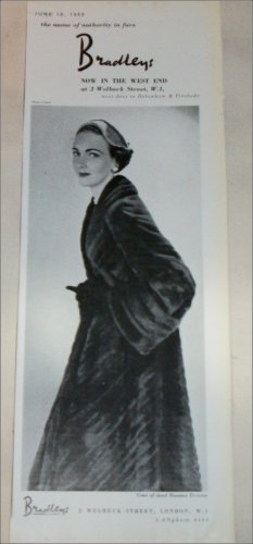 1953 Bradley's Russian Ermine Coat ad from the UK
