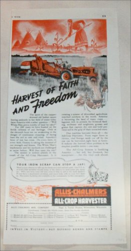 1942 Allis-Chalmers All-Crop Harvester ad