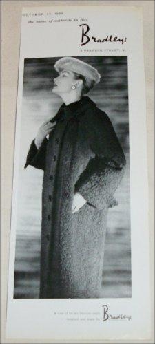 1956 Bradley's Brown Persian Lamb Coat ad from the UK