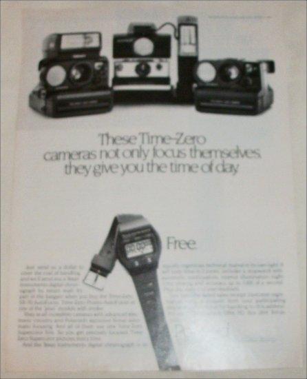 1981 Polaroid Time-Zero Cameras ad