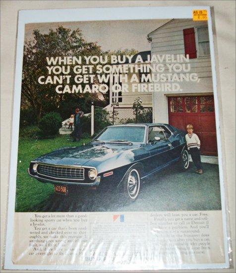 1972 American Motors Javelin car ad