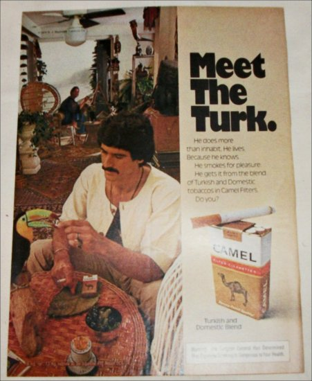 1974 Camel Filters Cigarette Meet The Turk ad