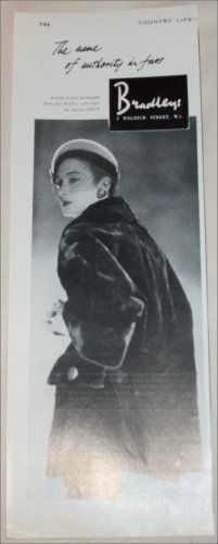 1957 Bradley's Seal Musquash Coat ad from the UK