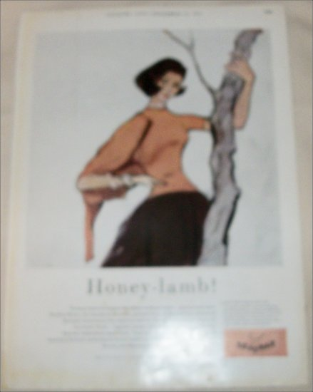 1957 Braemar Clothing Honey-Lamb ad from the UK