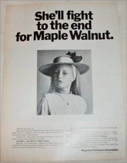 Magazine Publishers Maple Walnut ad