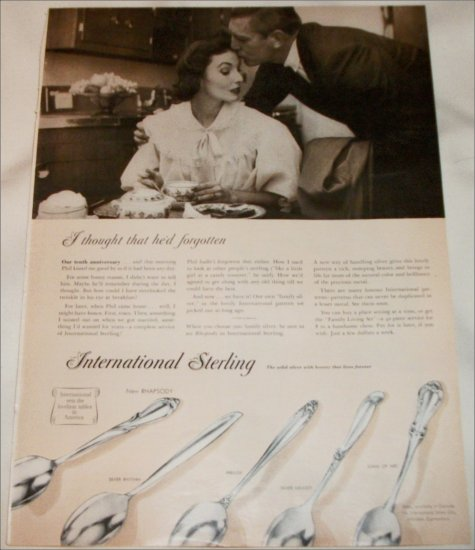 1957 International Sterling Silverware I Thought He Forgot ad