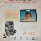 1958 Revere Electric Eye-Matic 8 mm Movie Camera ad