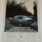 1972 American Motors Hornet 2 dr sedan car ad
