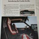 1972 American Motors Cardin Javelin car ad